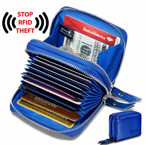 TOP RATED ANTI THEFT GENUINE LEATHER CARD HOLDER WALLET NOW ONLY $12.74!