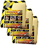 CoverGrip Heavy Duty Safe Zone 10 Oz Canvas Safety Drop Cloth, 9' x 12', (Pack Of 3)
