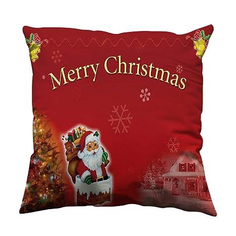 Rawdah Fundas De Cojines para Sofa Navidad Decorativos ...
