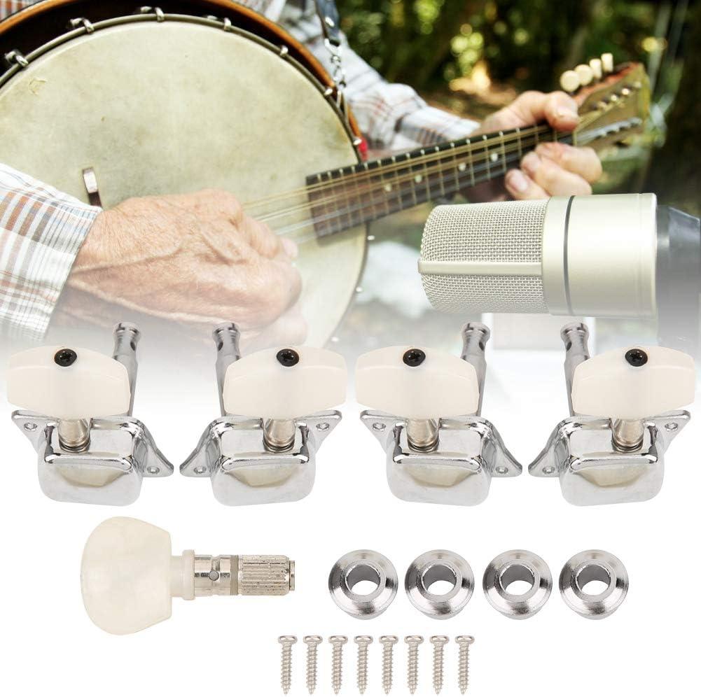 guitarra de aleaci/ón de zinc de alto rendimiento para ukelele banjo dom/éstico juego de clavijas de afinaci/ón 【Regalo de Navidad】Materiales de PVC Accesorios para banjo