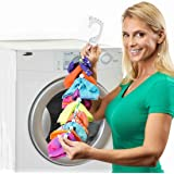 SockDock Sock Laundry Tool & Storage Hanger for Washing Drying & Storing Paired Socks, Clips & Locks, No Sorting or…
