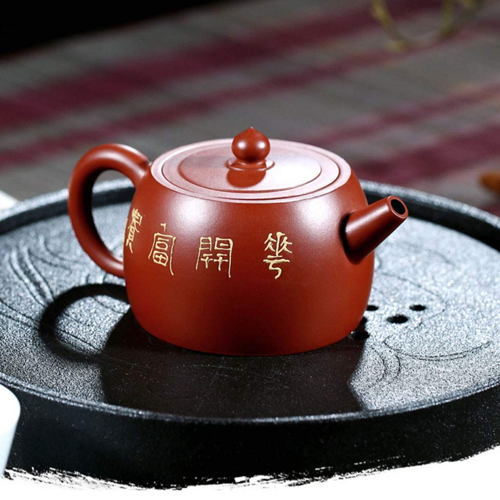 Teapot Pure Handmade Dahongpao Zhu Mudie Love Flower Pot Tea Set Kung Fu Teapot Set Non-ceramic Organ Mine Dahongpao Squirrel Pot (Color : BROWN, Size : 13X8CM) by GQQ (Image #3)