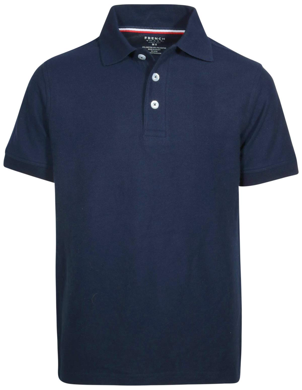 French Toast Boys Short Sleeve Uniform Polo Shirt - 4 Pack, Navy, Size Large' by French Toast (Image #2)