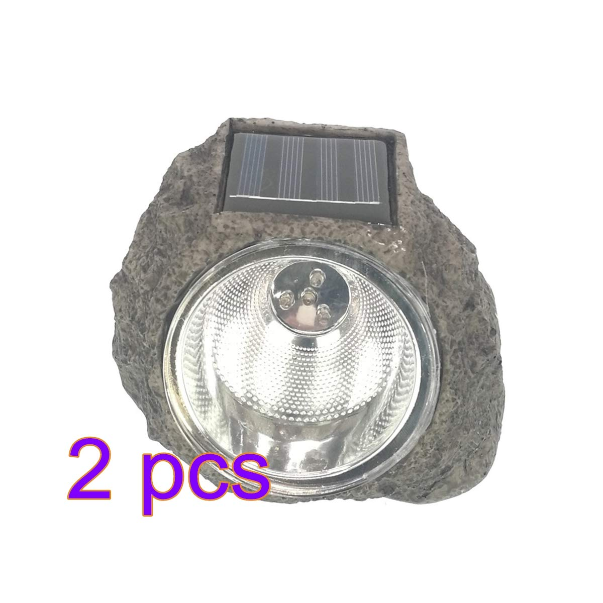 OSALADI Energ/ía solar Resina decorativa Piedra Mancha Luz Solar C/ésped Luz Decorativa Resistente al agua L/ámpara de paisaje Led para jard/ín al aire libre