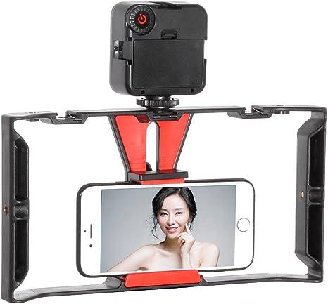 FOTGA Empuñadura Smartphone Video Rig, Cinematografía jaula ...