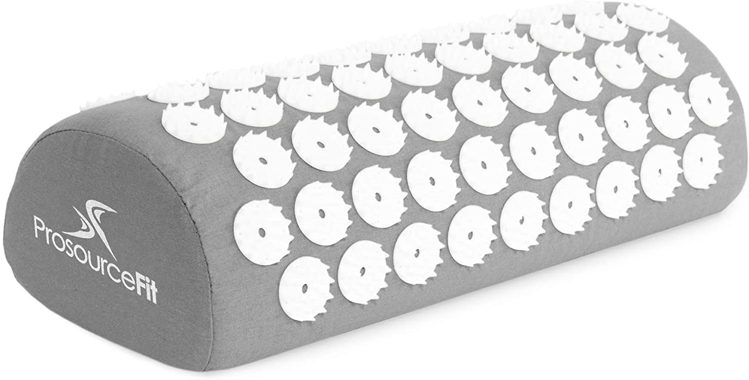 Acupressure Mat and Pillow Set for Back/Neck Pain Relief and Muscle Relaxation - Grey