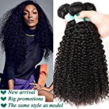 Brazilian Kinky Curly Wave 14 16 18inch Human Hair Extensions, Luxurious Virgin Hair, The Choice Of All The Beautiful Women.(14inch, 16inch, 18inch) offers