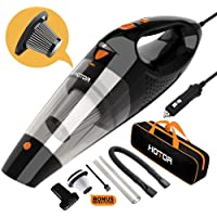 $27 » Car Vacuum, HOTOR Corded Car Vacuum Cleaner High Power for Quick Car Cleaning, DC 12V…