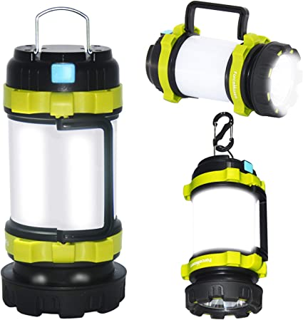 USB Flashlight Waterproof Torch Lantern Lamp Outdoor Fishing Camping Spotlight