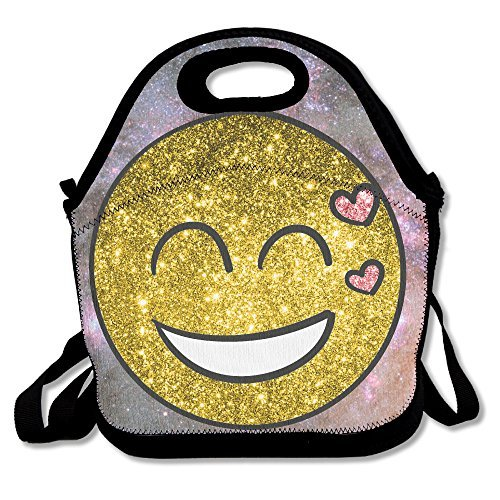 Emoji Heart Lunch Tote Insulated Reusable