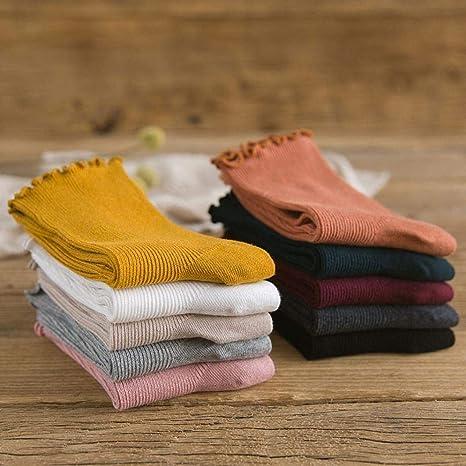 Amazon.com: FORUU 1 par de calcetines de punto de ganchillo ...