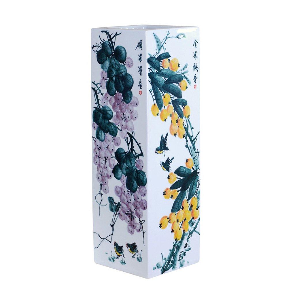 Peacefre セラミック花瓶の装飾デザイナー手作りフルーツ広場フロアラージ花瓶中国のホームデコレーション B07FD63G5C