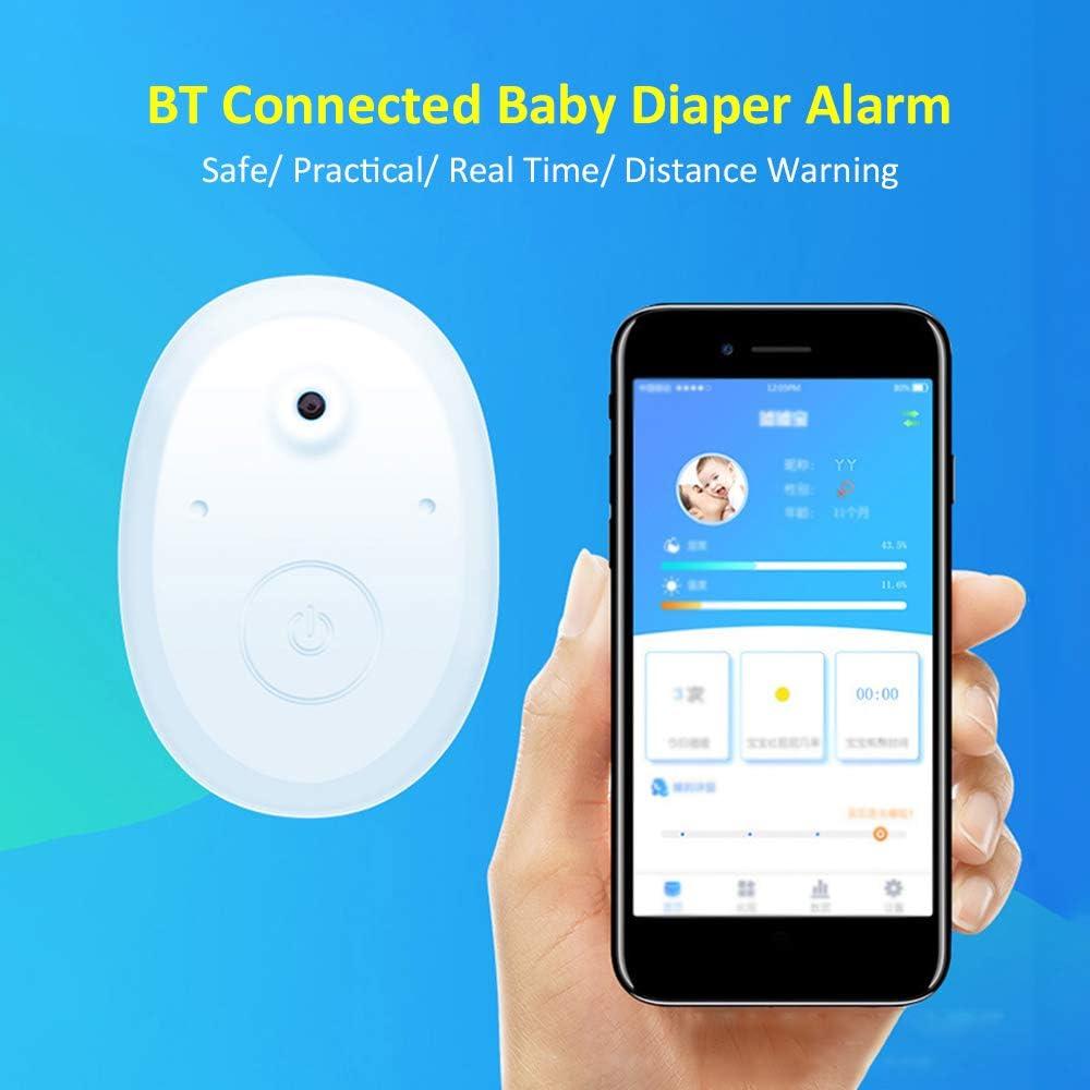 Decdeal Baby Pannolino Sensore di allarme Induttore infantile Cellulare Controllo app Reale Registrazione dati Analisi Funzione Anti-perdita Modalit/à Allarmanti Personalizzate Mini Portatile