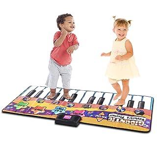 COSTWAY Tappeto Musicale da Ballo, Coperta Elettronica per Danza per Bambini a Forma di Tastiera, 180 x 75 cm