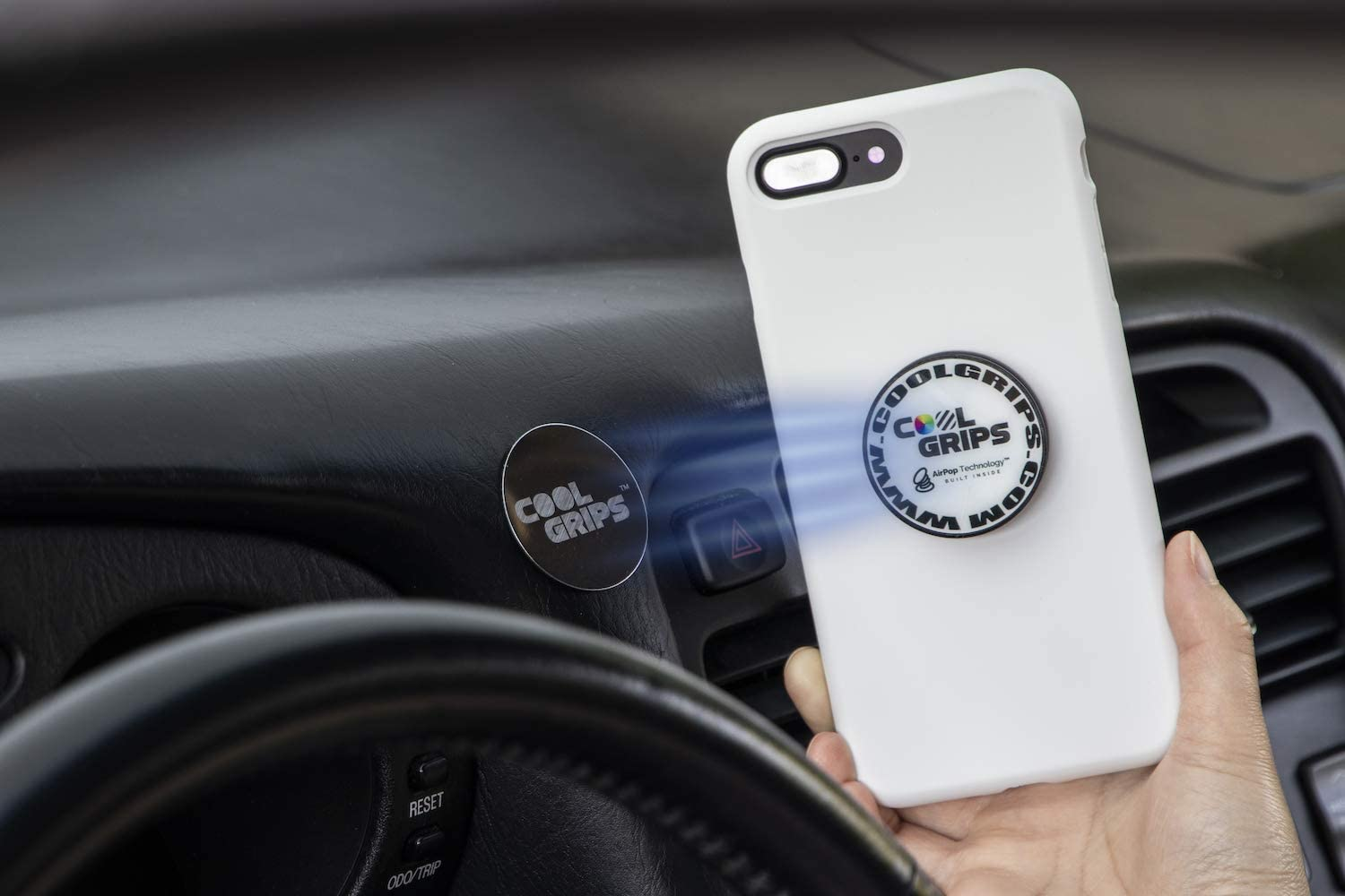 Cool Grips with Airpop Technology Magnet top Collapsible Phone Grip Holder and Stand City Nights