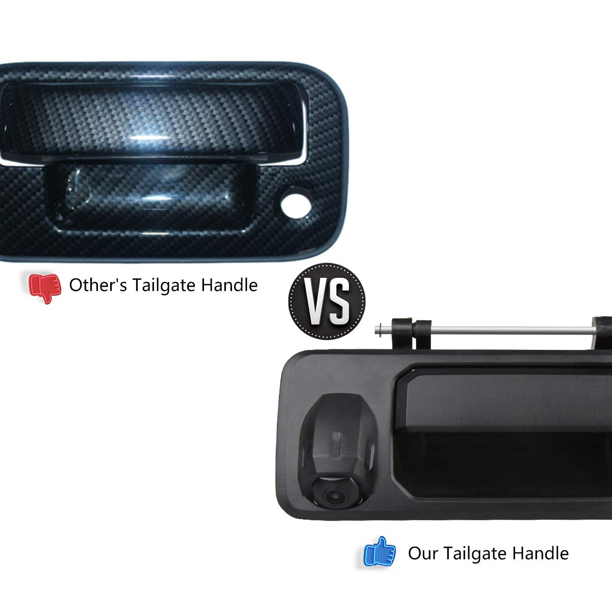 GUANGZHOU STARTWAY AUTOPART Toyota Tacoma Tailgate Cameras CAR ROVER Reverse Reversing Rear View Cameras for Toyota Tacoma 2016-2018 Tailgate Handle Backup Camera Black, 1 Pack