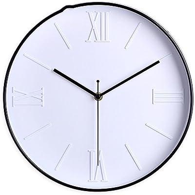 Imoerjia European Creative Wall Clock Living Room Silent Round Watches, B