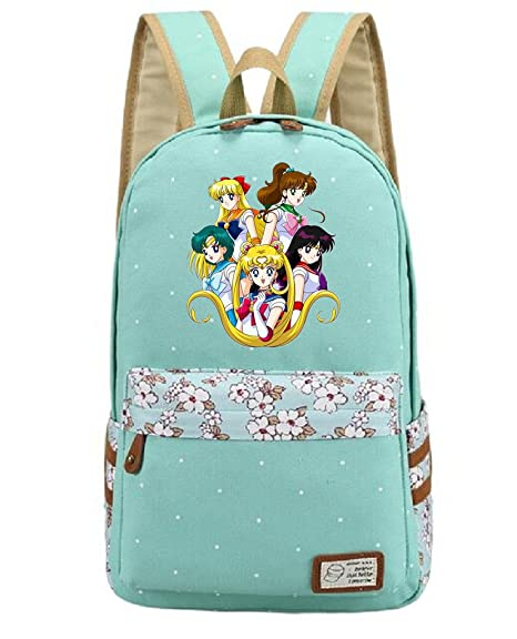 3cfd7fe7539f Amazon.com: YOYOSHome Anime Sailor Moon Cosplay Daypack Bookbag ...