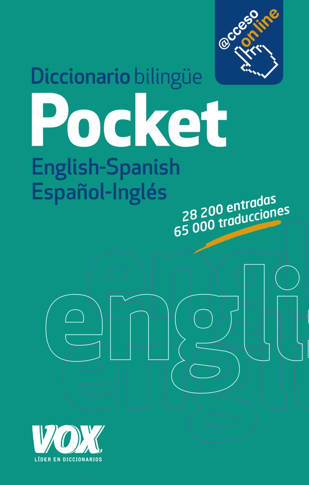Diccionario Pocket English Spanish Español Inglés Spanish