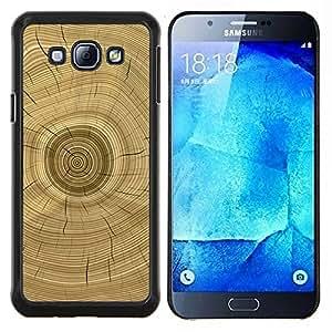 Árbol Core Anillos Historia de Brown- Metal de aluminio y de plástico duro Caja del teléfono - Negro - Samsung Galaxy A8 / SM-A800