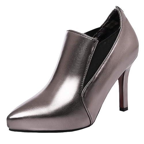 lo último a3a33 72c78 Coolulu Mujer Zapatos de Tacón Alto y Fino Punta Aguja ...