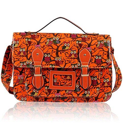 TrendStar - Bolso al hombro para hombre Large Z - Orange