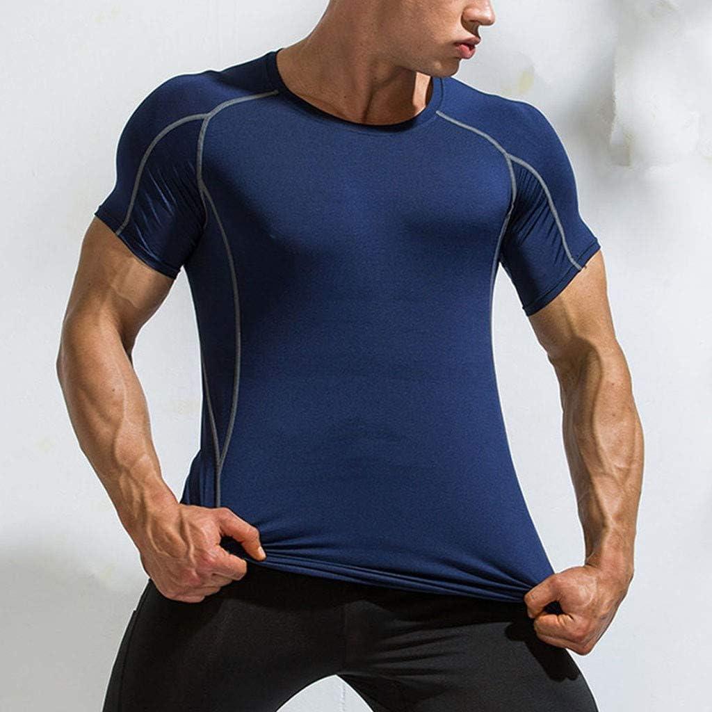 Herren Kurzarm Funktionsunterwäsche Kompressionsshirt Funktionsshirt Sportshirt