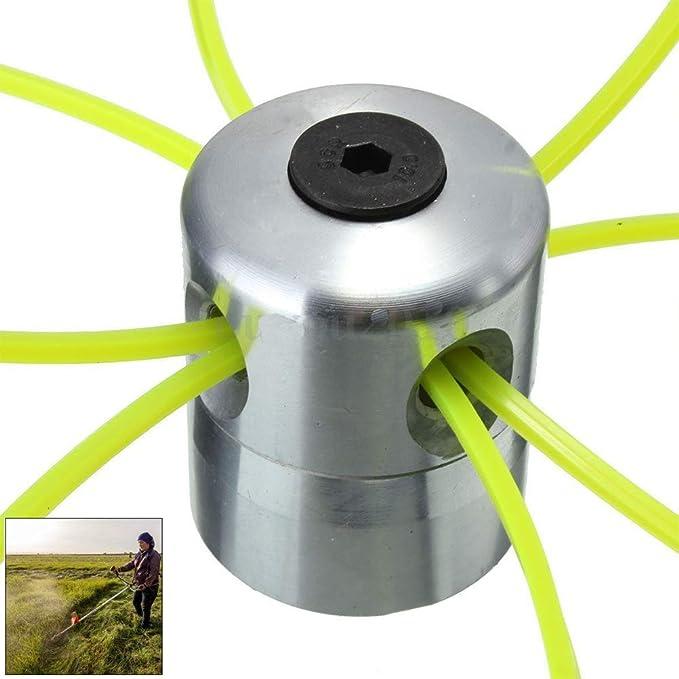 Ysoom – Cabezal de hilo para cortacésped, cabezal de doble hilo, bobina de aluminio, hilo de nailon para desbrozadora de gasolina con 4 líneas de césped: Amazon.es: Hogar