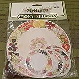 NOS 1965 ARTLINES Jar Covers & Labels Fruit Print UNOPENED