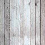 HaokHome 5024 Faux Distressed Wood Plank Peel and Stick Wallpaper Birch/Black Self-Adhesive Contact Paper