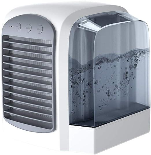 Aire Acondicionado Portátil Enfriador 3-en-1 Mini Enfriador Humidificador Purificador De Aire Portátil USB Aire Acondicionado para Casa/Oficina/Camper SLZT: Amazon.es: Hogar