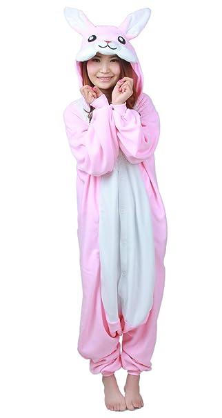 Unisex Animal Pijama Ropa de Dormir Cosplay Kigurumi Onesie Conejo Rosa Disfraz para Adulto Entre 1, 40 y 1, 87 m: Amazon.es: Ropa y accesorios