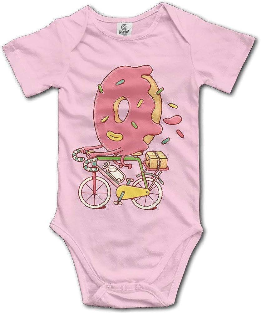 ZhangYu Ropa de bebé Unisex The Walking Donut Ciclismo Humor Monos de algodón Onesie: Amazon.es: Ropa y accesorios
