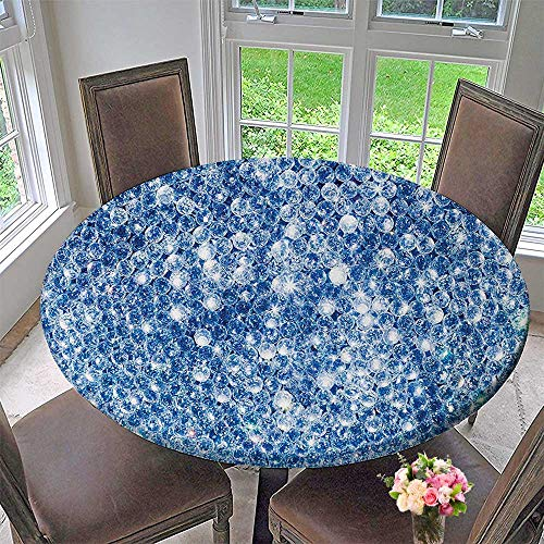 Mikihome Round Polyester Tablecloth Table Cover Various Sized Spider Web Like Diamds in StoAbstract Rocks Crystal Loveati 31.5
