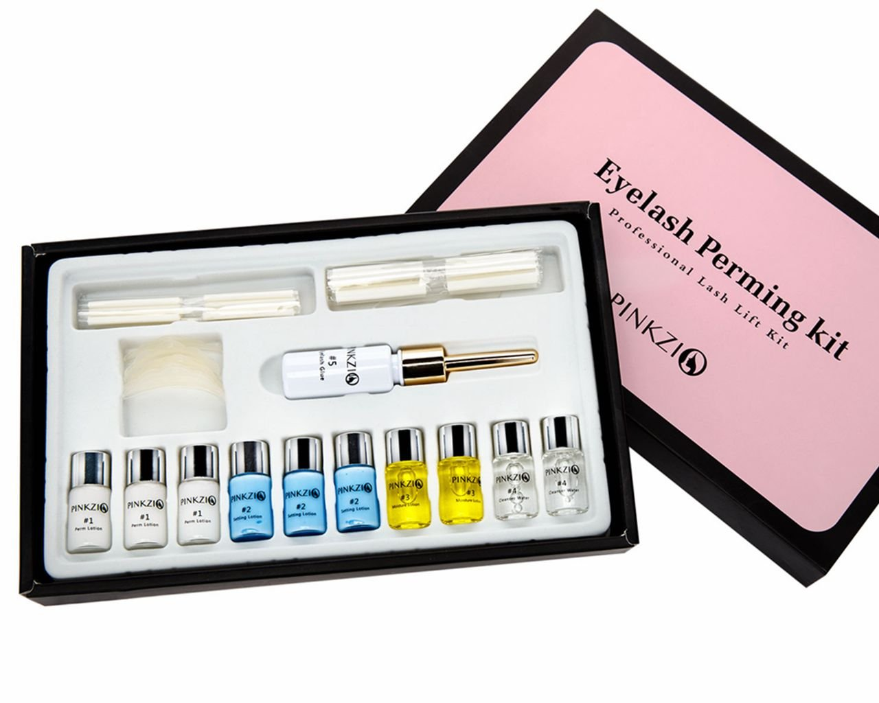 Pinkzio Premium Eyelash Perm Kit Full Eyelash Lift Kit For Professional Use, 15 in 1 Salon Lashlift Eyelash Perming kit by PINKZIO