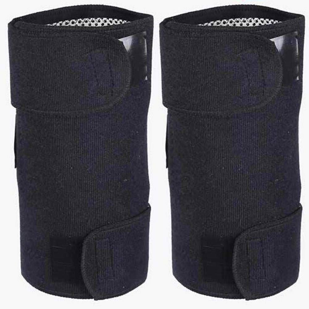 1 Pair Unisex Upgraded Version Adjustable Self-Heating Knee Pads Tourmaline Therapy Knee Support Brace Protector Arthritis Pain Relief Leg Care Magnetic Therapy Knee Pads Ourmaline Self-Heating IrahdBowen