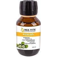 MeaVita Rizinusöl - 100% reines kaltgepresstes Öl, 1er Pack (1 x 100 ml)