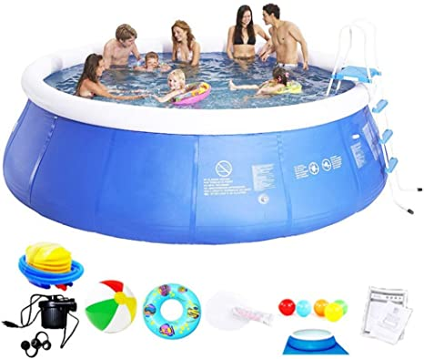 Child Swimming Pool Adult Thicken Very Large Family Pool Pvc Outdoor Garden Baby Paddling Pool Inflatable Bathtub Summer Family Inflatable Pools Set A 360 90cm Amazon Ca Home Kitchen