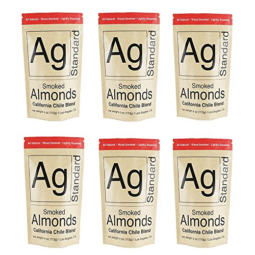Wood Smoked - California Chile Blend - Almonds - by AgStandard ( 6 pack of 4 oz bags) by AgStandard