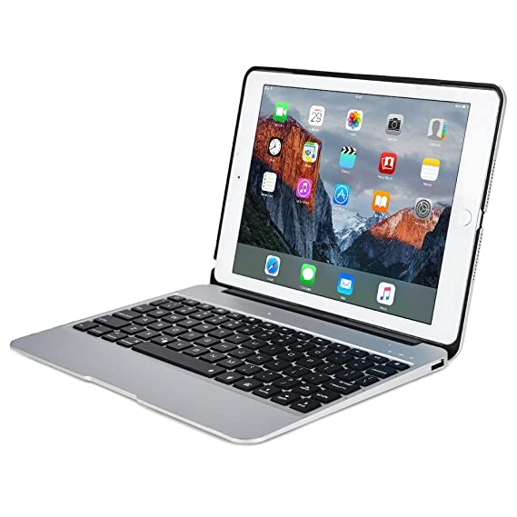 "5c1258b1a7e Image Unavailable. Image not available for. Color: iPad Pro 12.9"" Aluminum  Keyboard Case F07 with 7 ..."