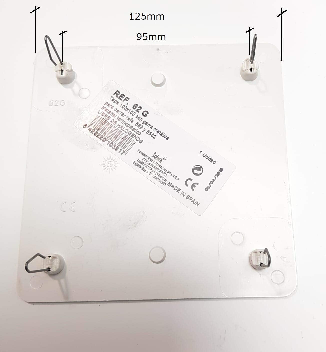 SOLERA Tapa Caja Empalme 100x100mm Garra Metálica: Amazon.es: Bricolaje y herramientas