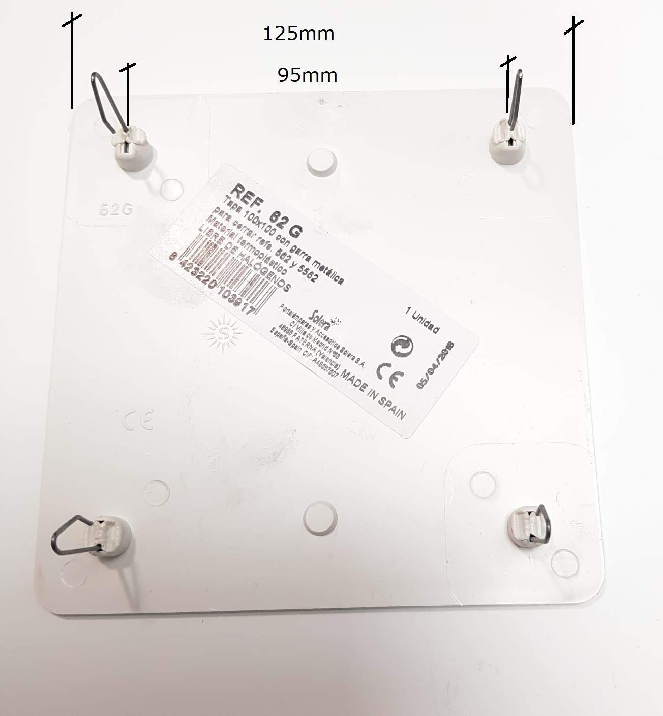 Tapa Caja Empalme 100x100mm Garra Met/álica