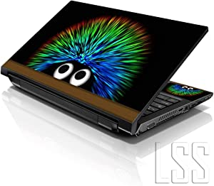 """LSS 15 15.6 inch Laptop Notebook Skin Sticker Cover Art Decal Fits 13.3"""" 14"""" 15.6"""" 16"""" HP Dell Lenovo Apple Asus Acer Compaq (Free 2 Wrist Pad Included) Hedgehog"""