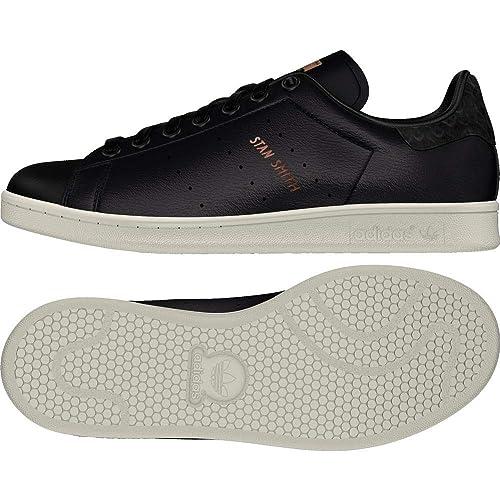 Adidas Stan Smith W, Zapatillas de Deporte para Mujer, Negro (Negbas/Negbas/Cobmet 000), 36 2/3 EU: Amazon.es: Zapatos y complementos