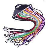 0798d0fa18 Ogquaton Gafas antideslizantes Cuerda Nylon Sujetador de gafas Gafas Cordón  Color al azar de 12 raíces