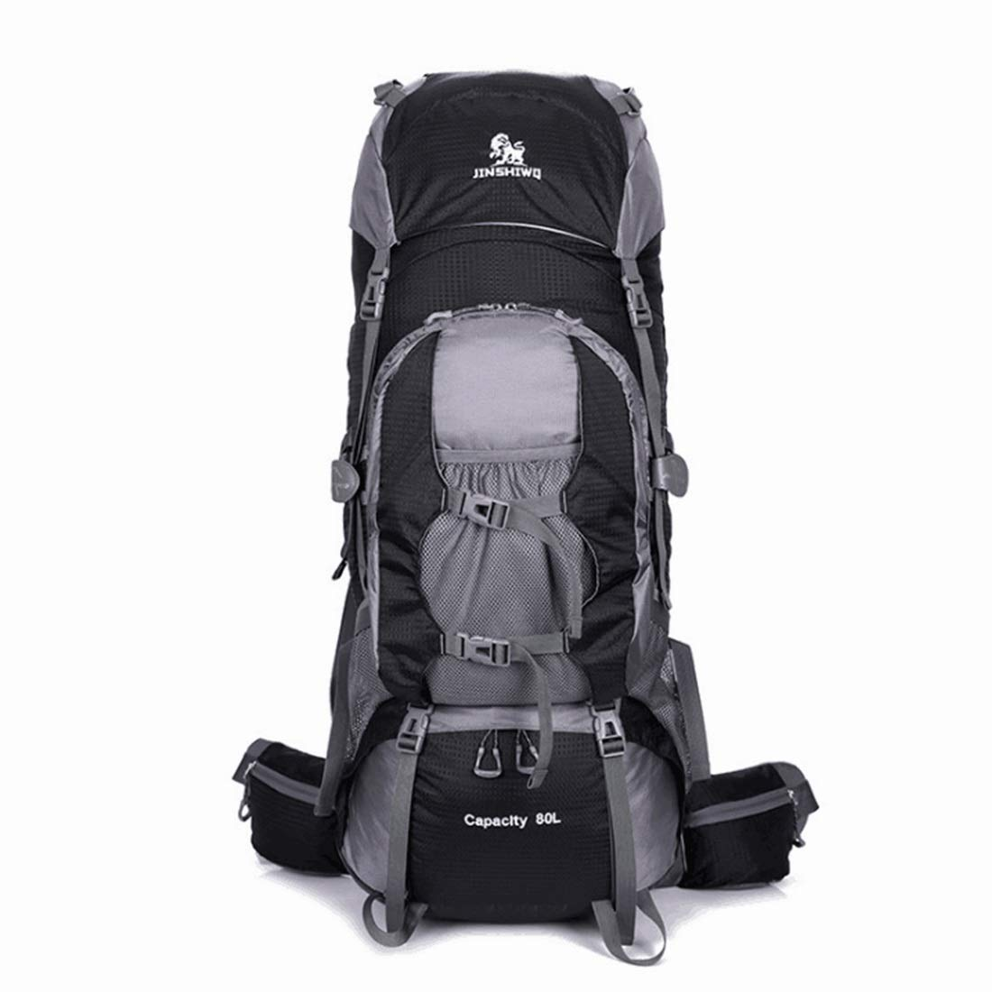 Color : Black CTARCROW Hiking Backpack Travel Daypack Waterproof with Rain Cover for Climbing Camping