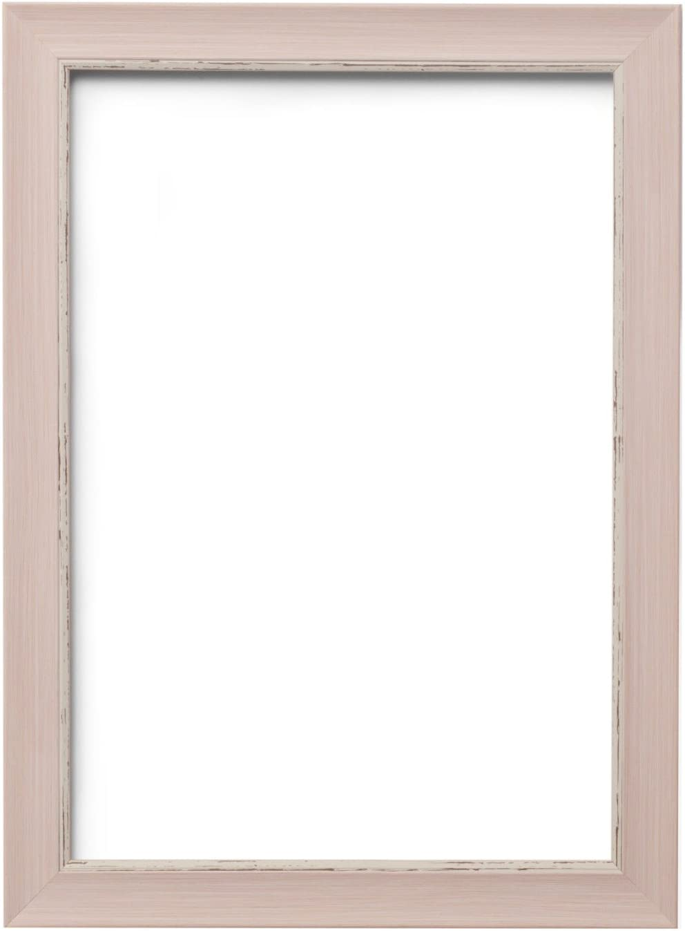 Shabby Chic Vintage Range 25 mm Pink Distressed Picture//Photo//Poster frame Pink Distressed 20 x 16 SC1 With a High Clarity Styrene Shatterproof Perspex Sheet
