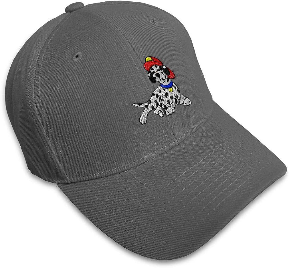 Custom Baseball Cap Firefighter Dalmatian Embroidery Dad Hats for Men /& Women