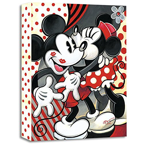 """Hugs and Kisses"" Limited edition gallery wrapped canvas by Tim Rogerson from the Disney Treasures collection, with COA."