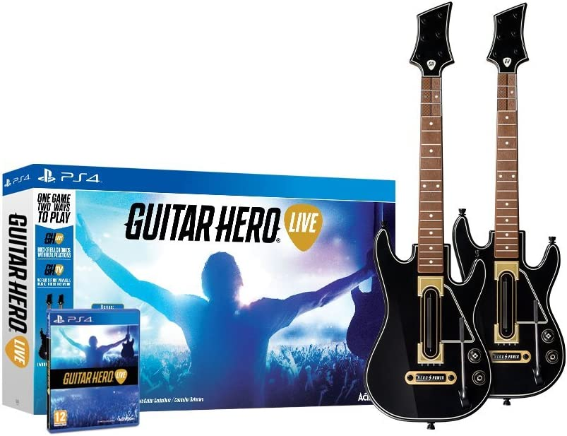 Amazon Guitar Hero Live 2 Pack Bundle Playstation 4 Video Games